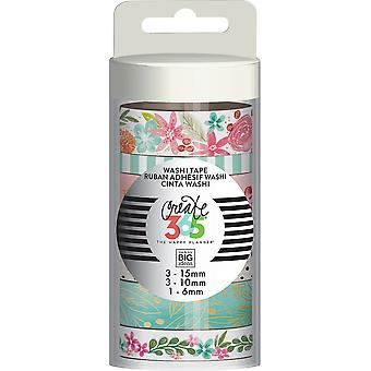 Happy Planner Washi Tape 7/Pkg-Happy Mind