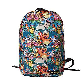 Pokemon tecken alla över Print laptop ryggsäck