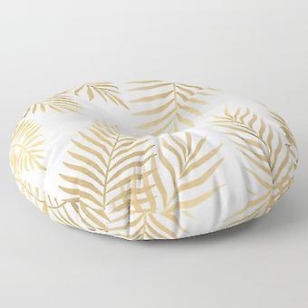 Golden leaf floor pillow