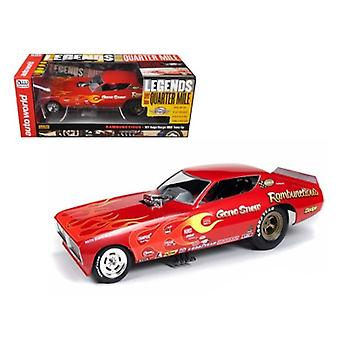1971 Gene Snow Rambunctious Dodge Charger NHRA Funny Car Model 1/18 Model Car by Autoworld