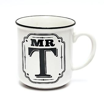 History & Heraldry Alphabet Mugs-mr T