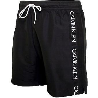 Calvin Klein Bonded Logo Tape Swim Shorts, Black