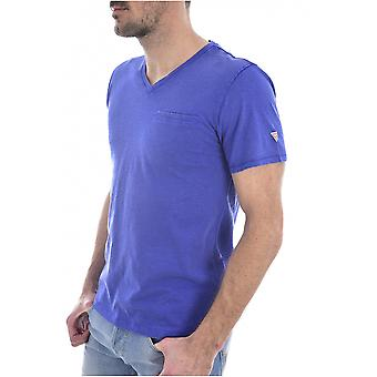 Tee shirt coton tramé POCKET SLUB  -  Guess jeans