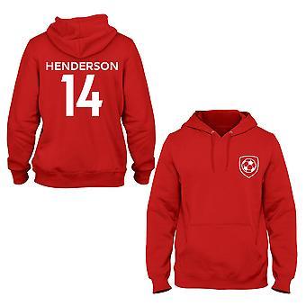 Jordan Henderson 14 Liverpool stil spelare hoodie