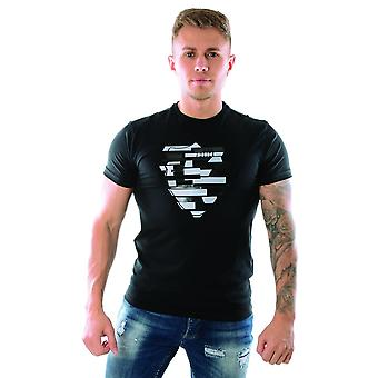 politiet avor 6611 reflektere logo halvermet t-skjorte - svart