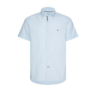 Tommy Hilfiger Slim Organic Cotton Short Sleeved S Keepsake Blue
