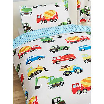 Trucks and Transport Duvet Cover and Pillowcase Set