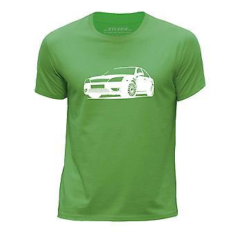 STUFF4 Boys rund hals T-Shirt/Stencil bil kunst / Mondeo ST220/grøn