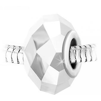 Charm pärlstav kristall faset och stål av SC Crystal BEA0016