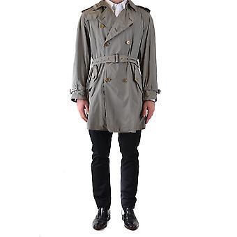 Aspesi Ezbc0671014 Men's Grey Polyester Trench Coat