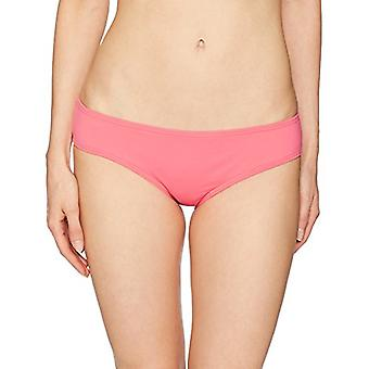 Vince Camuto Women's Shirred Smooth Bikini Bottom Swimsuit, Hibiscus, Small