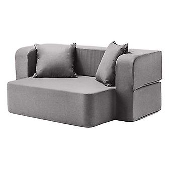 Changing Sofas Pewter Wool Effect Foam Flip Over Sofa Bed Daybed Lounger