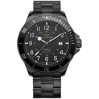 Combat Analog Men's Automatic Watch with GL0256 Stainless Steel Bracelet