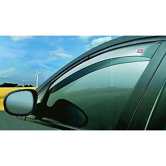 Pair of Front Wind Deflectors Tinted For Opel Vectra B 1995-2002