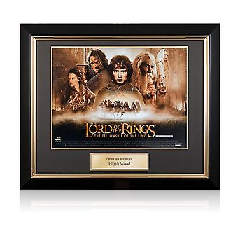 Elijah Wood Signed The Lord Of The Rings Poster Deluxe Frame