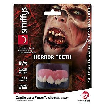 HARROR tanden, Zombie, met bovenste fineer tanden