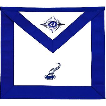 Frimurerisk blå lodge officerer forklæder variationer