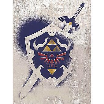 Zelda Hylian Shield stensiili kangaslevy 60 * 80cm