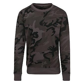 Build Your Brand Womens/Ladies Camo Crew Neck Sweater