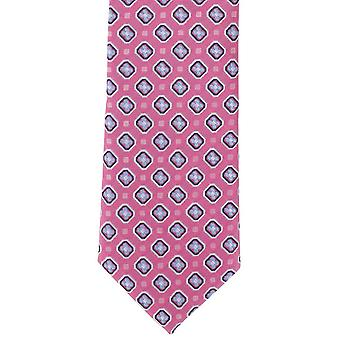 Michelsons of London Classic Neat Polyester Tie - Pink