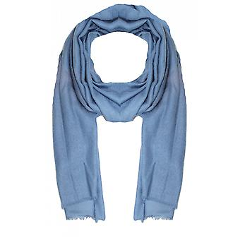 Taifun Blue Floral Embossed Scarf