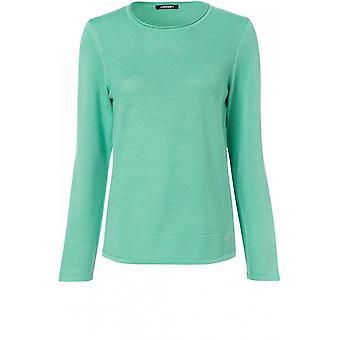 Olsen Green Textured Knit Jumper