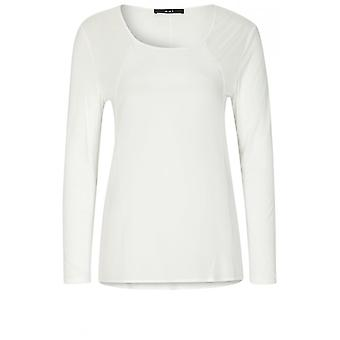 Oui Off White Chiffon Front Top