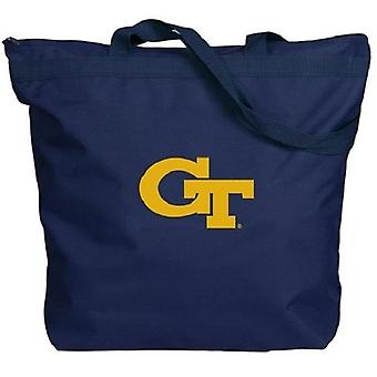 Georgien Tech gula jackor NCAA Dragkedja Tote Bag