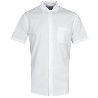 Portuguese Flannel Ebano Multi Colour Dot Pattern White Short Sleeve Shirt
