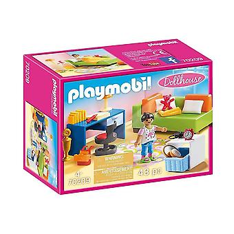 playmobil 70209 dollhouse teenager's room playset 43pcs for ages 4 and above