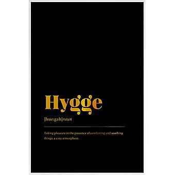 JUNIQE Print - Gold Hygge - Motivatie Poster in Goud en Zwart