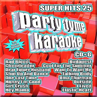 Party Tyme Karaoke - Super Hits 25 [CD] USA import