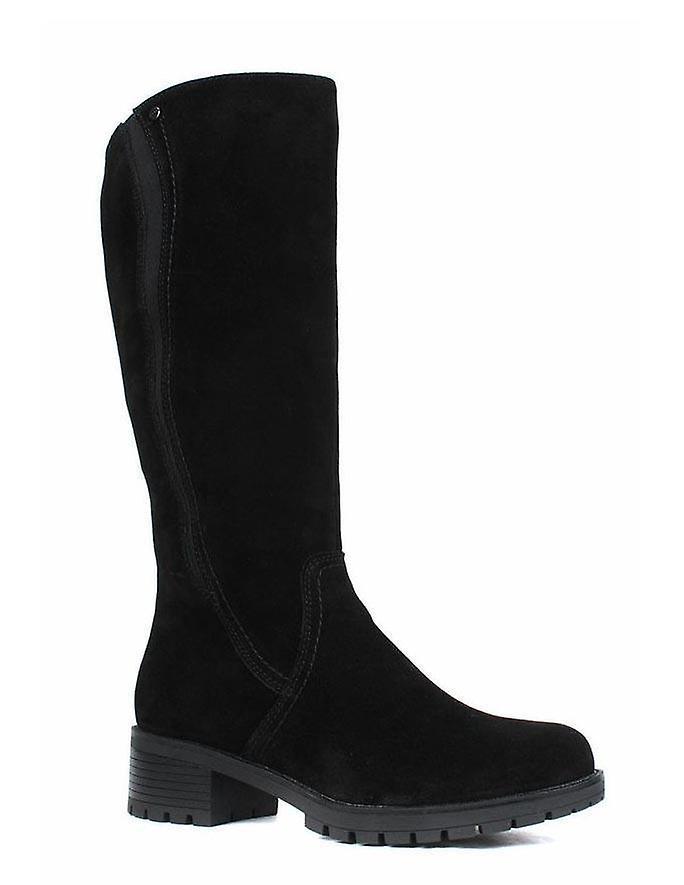 Rieker samtcalf black boots womens black