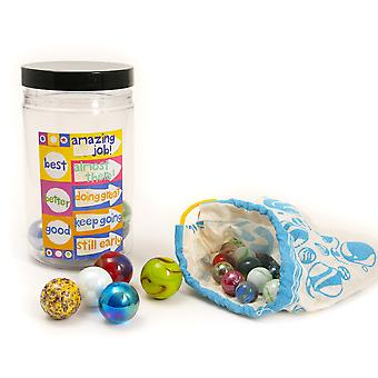 Marble Reward Jar & Marbles - Boxed Gift