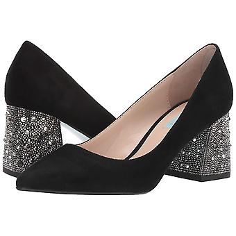 Betsey Johnson Women's Shoes Paige Leather Pointed Toe Classic Pumps