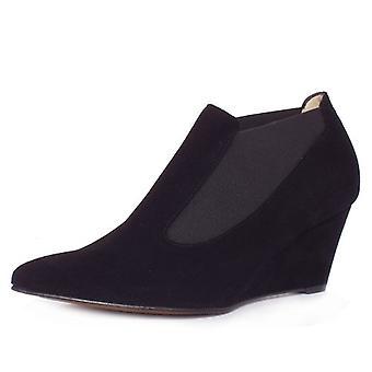 بيتر كايزر ريلانا المرأة & apos;ق منتصف إسفين الأحذية الأحذية في جلد الغزال الأسود