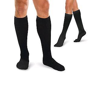 Therafirm Core Spun Short Support Socks - Unisex [Style AC10S] Black  XXL