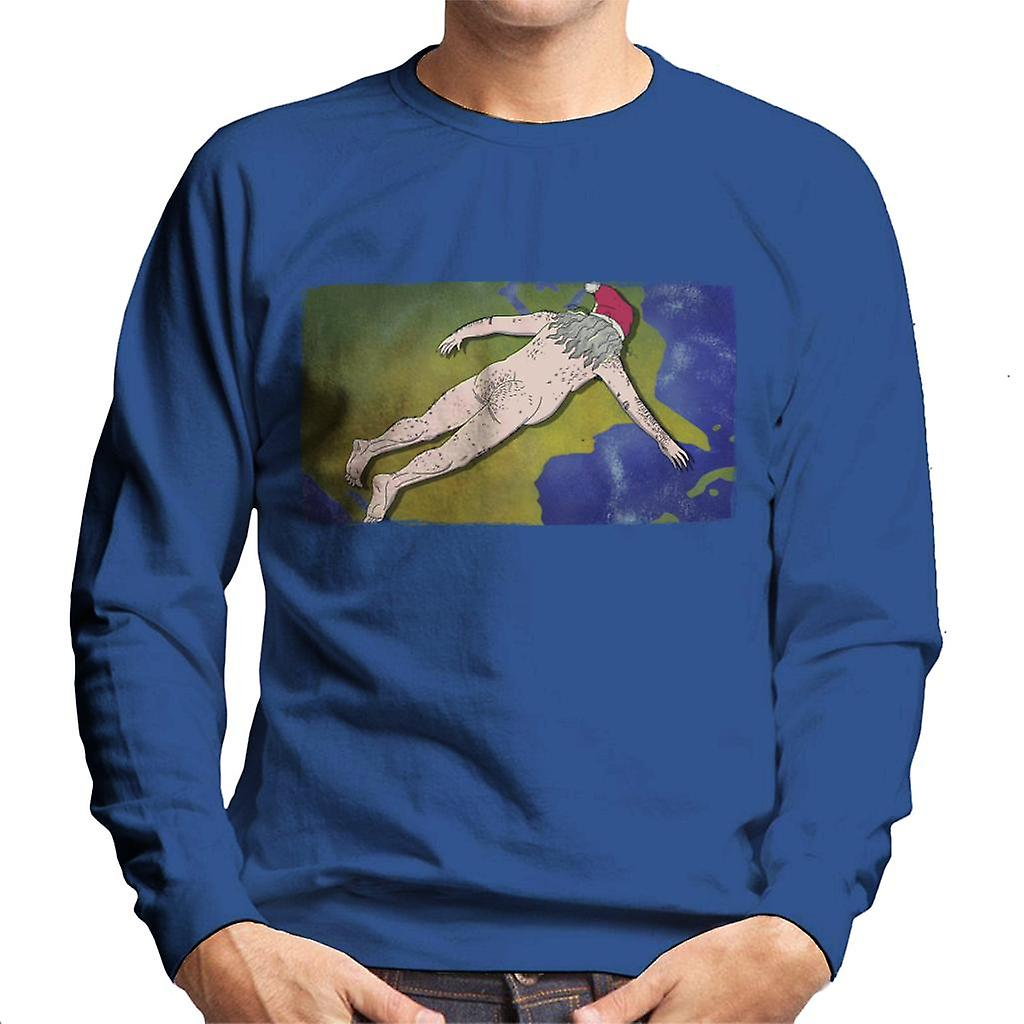 Rick and Morty Naked Ruben Flying Through Space Mens T