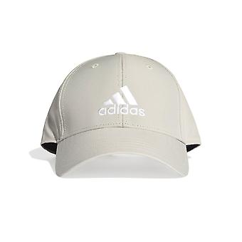 adidas Mens Kids Lightweight Baseball Cap Hat Grey/White