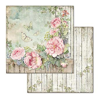 גדר Stamperia עם ורדים 12x12 גיליונות נייר אינץ ' (10pcs) (SBB675)
