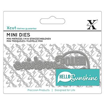 Xcut Mini Sentiment Die Hello Sunshine