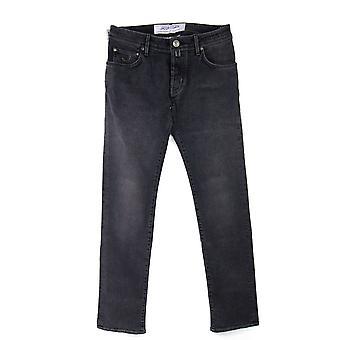 Jacob Cohen schwarz Patch Stretch Jeans Dunkelgrau 001