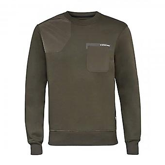G-Star G- Star Raw Hunting Patch Crew Sweatshirt Dark Green D17638