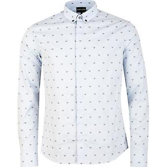 Armani All Over Eagle Logo Slim Fit Shirt