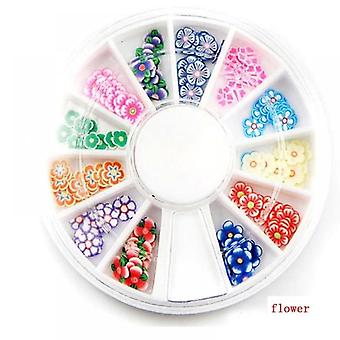 Mixed Styles 3d Fruit Tiny Slices Sticker, Polymer Clay Designs Slice Nail Art