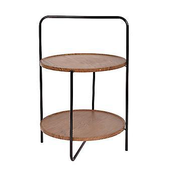Masă din lemn/metal podea dublă H68 cm