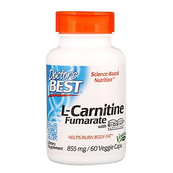 Doctor's Best, L-Carnitine Fumarate with Biosint Carnitines, 855 mg, 60 Veggie C