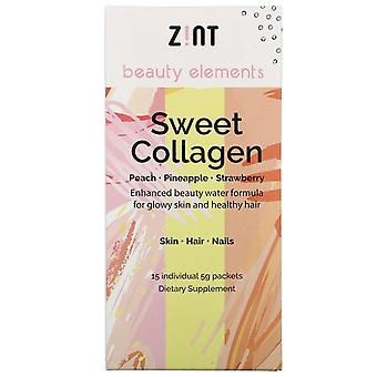Zint, Sweet Collagen, Peach, Pineapple, Strawberry, 15 Individual Packets, 5 g E