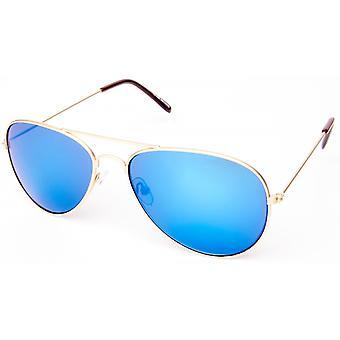 نظارات شمسية Unisex Cat.3 الذهب / الأزرق (19-211)
