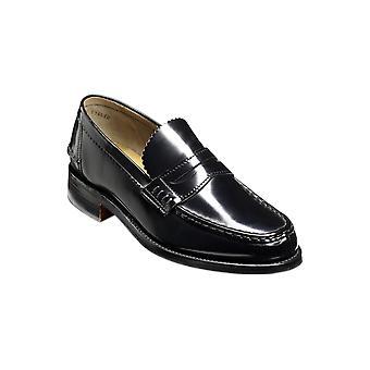 Barker Caruso - Black Hi-Shine | Sapatos de couro artesanal mens handmade | Sapatos Barker